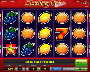 sizzling hot deluxe free game