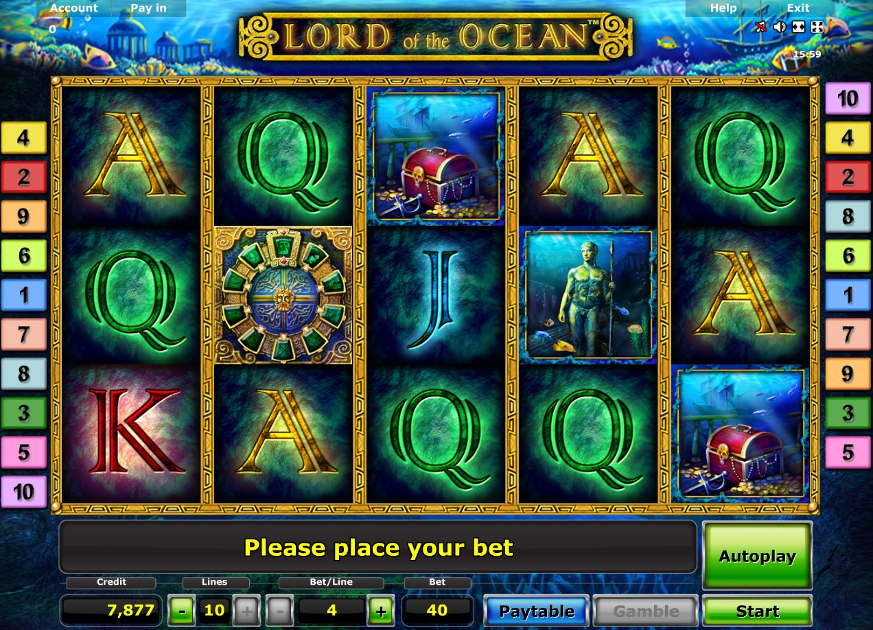 online casino table games lord of ocean